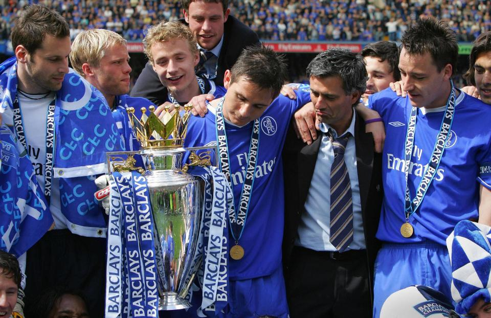 Lampard won back-to-back Premier League titles under Mourinho at Chelsea