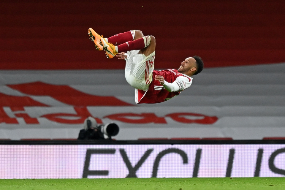 Aubameyang bagged his first brace of the season