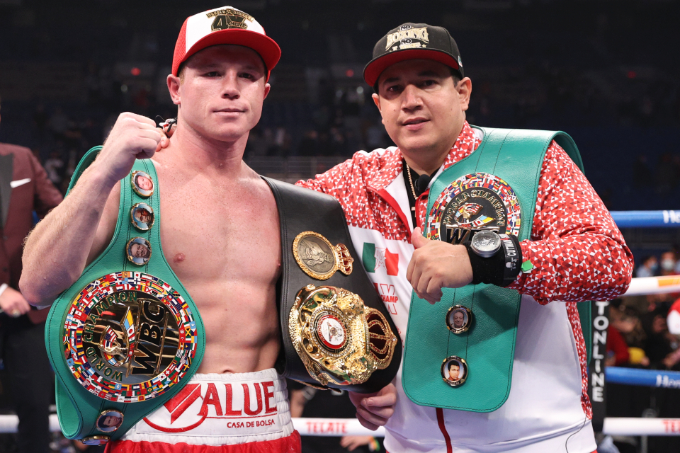 Canelo has two of the four major super-middleweight titles