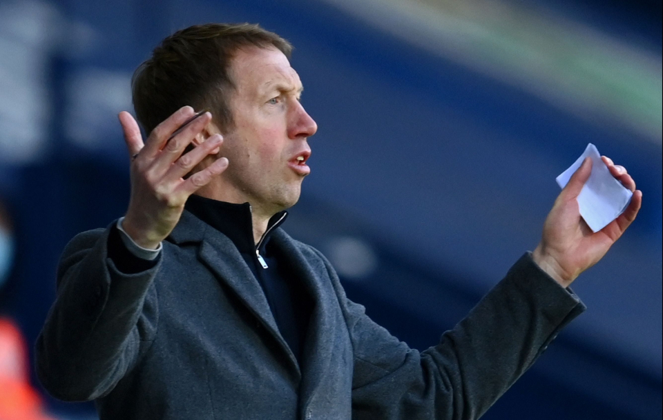 Graham Potter's Brighton are just four points above the drop zone