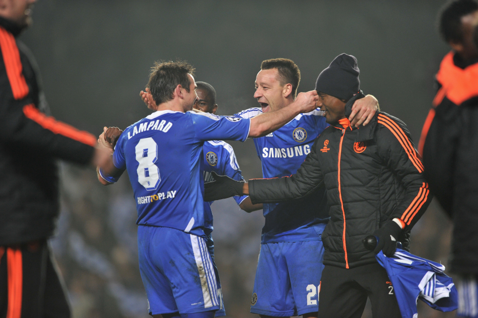 Terry and Lampard both scored for Chelsea in a win over Napoli in 2012
