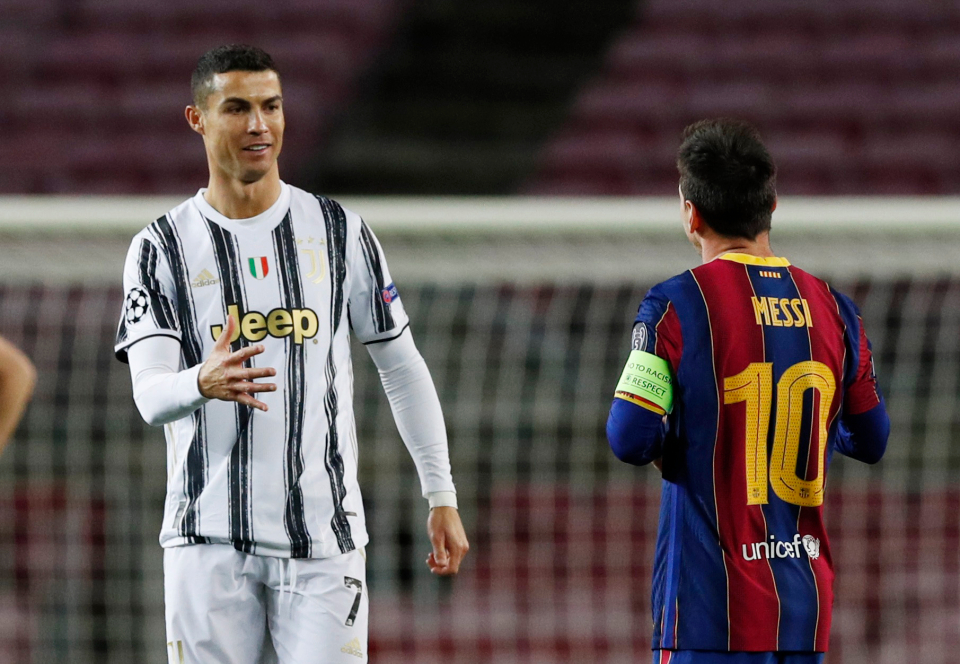 Messi and Ronaldo last played each other in a Champions League group match last season, Juve winning the clash 3-0 at the Camp Nou