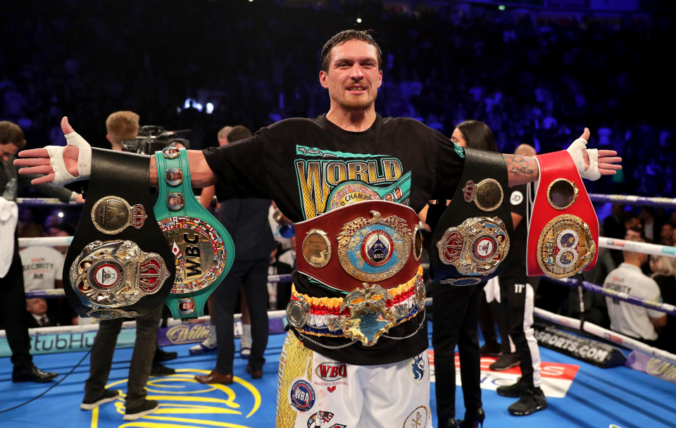 Usyk was the undisputed champion at cruiserweight and wants to achieve the same at heavyweight