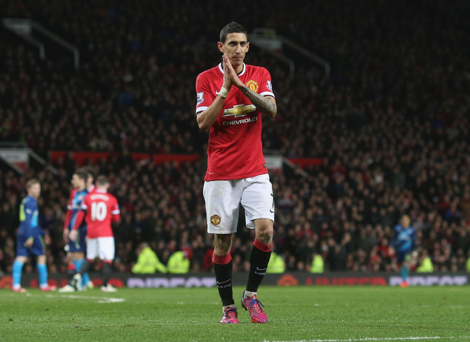 Di Maria fell out of favour quickly at Old Trafford and never settled in England