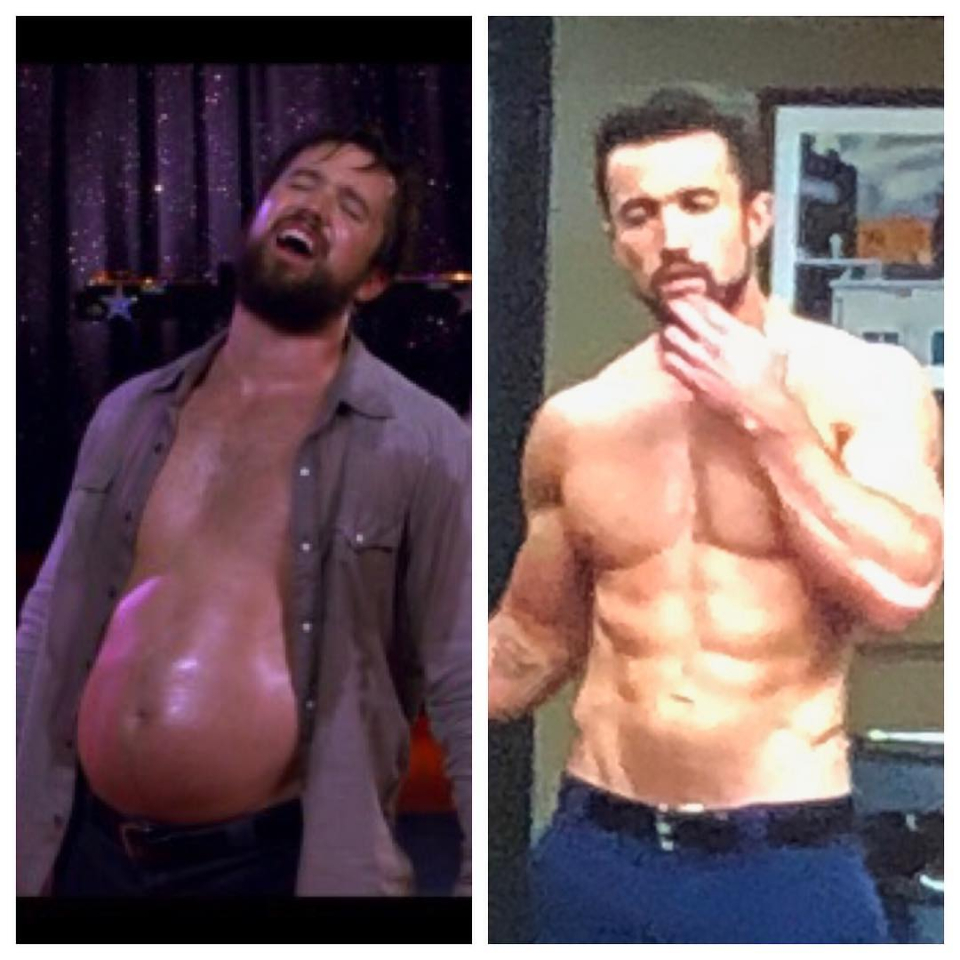 McElhenney has shared pictures of his transformation on Instagram