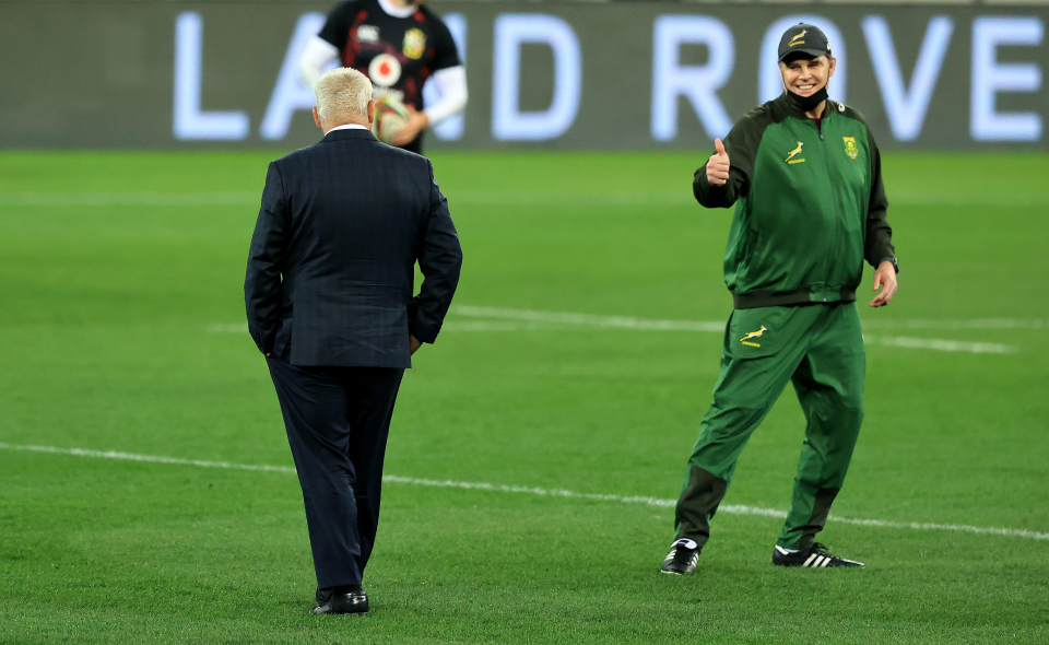 Head coaches Rassie Erasmus and Warren Gatland will pit their wits against one another again in Cape Town