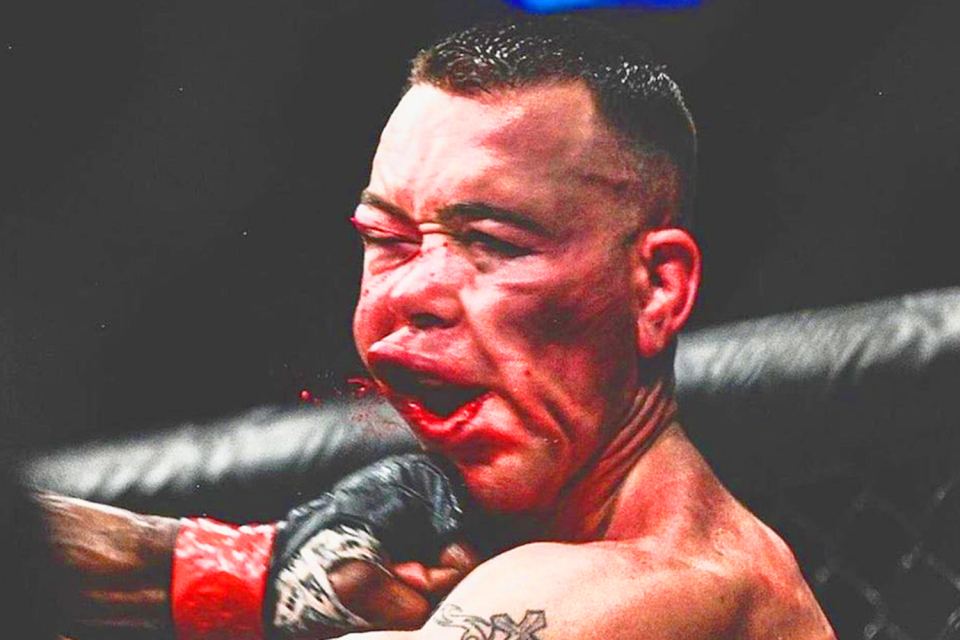 The punch from Usman that shattered Covington's jaw