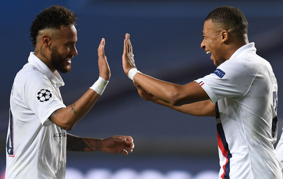 Neymar and Kylian Mbappe cost a combined £350million