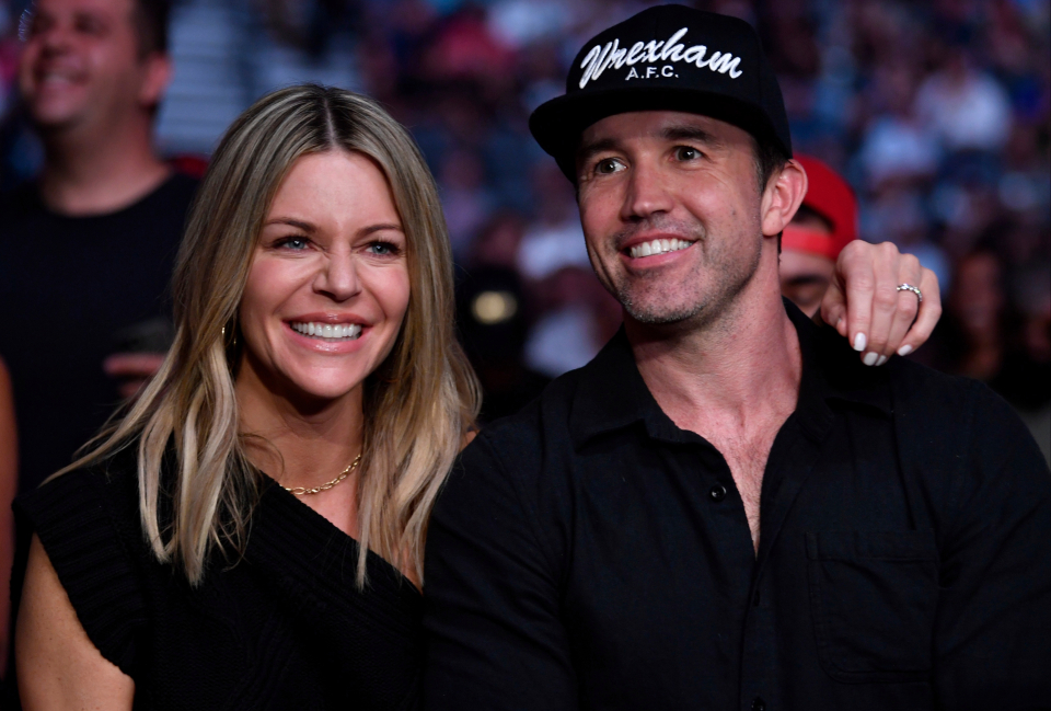 McElhenney proudly wore a Wrexham hat at UFC 264 with his wife, Kaitlin Olson