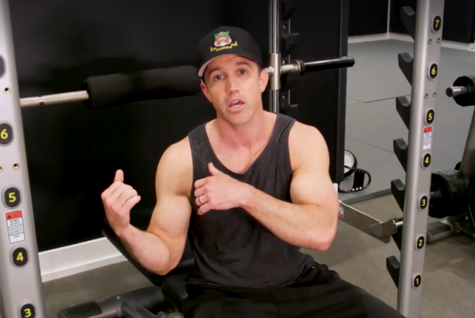 McElhenney shared with Men's Health how he works out, all while wearing a Wrexham hat