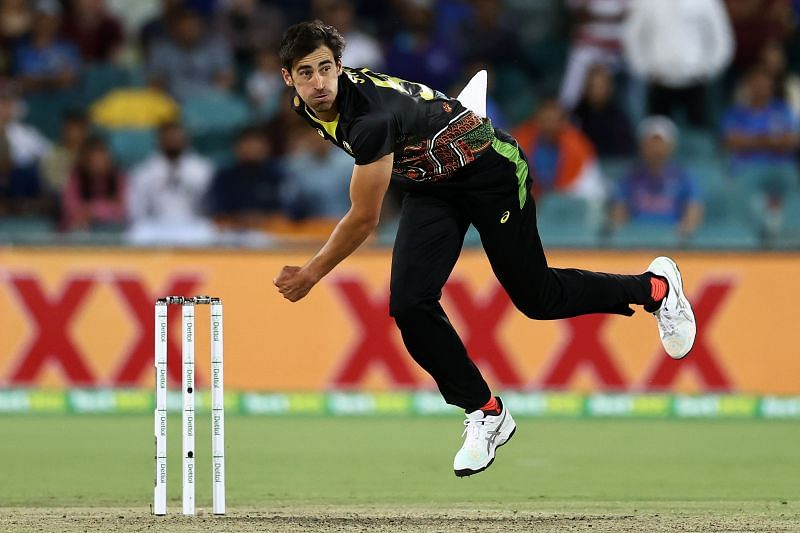 Mitchell Starc has taken only one wicket in four T20I matches this year.