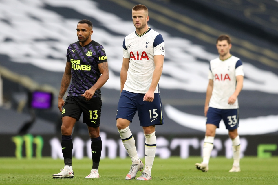 Eric Dier suffered an injury blow against Crystal Palace